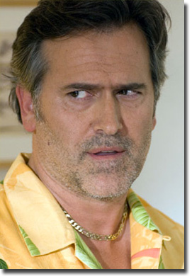 Bruce Campbell as Sam Axe in Burn Notice