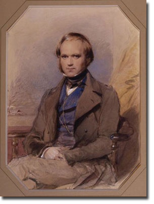 Painting of young Charles Darwin