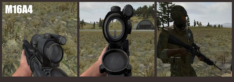 arma 2 m16a4 rifle