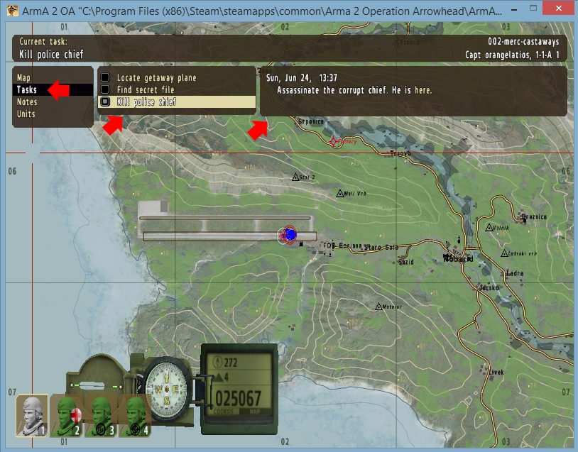 arma 2 creating mission tasks