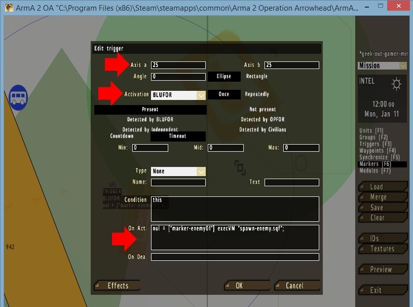 arma 2 spawnpoint setup