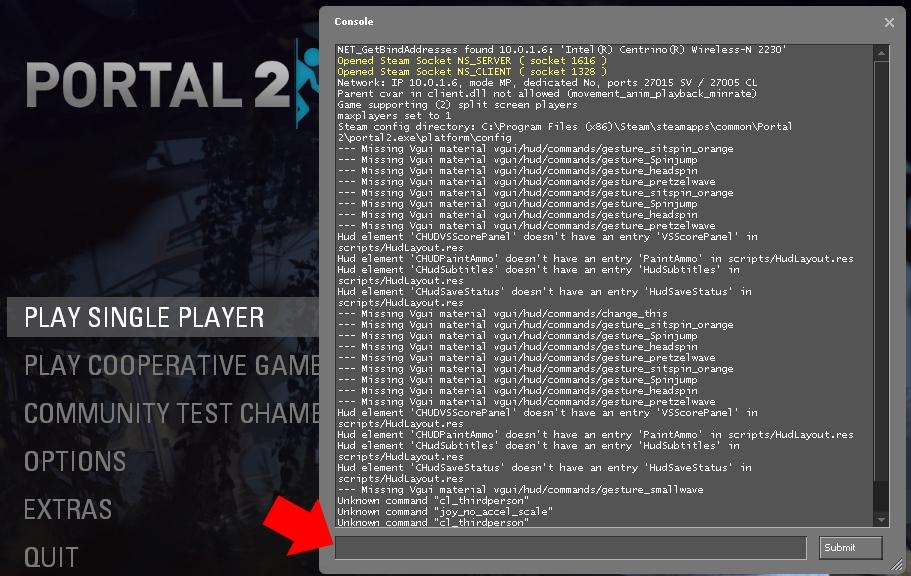 portal 2 console