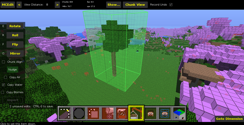 Importing Schematics into Minecraft Using MCEdit on