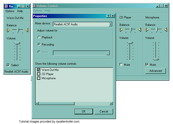setting audio recording capabilities on pc for Hypercam 2